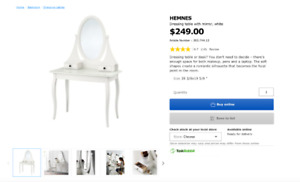 Ikea Dressing table (price negotiable)