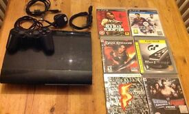 PS3 super slim and 6 games