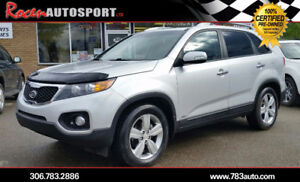 CERTIFIED 2012 SORENTO EX - LEATHER/SUN/NAV - 75K - YORKTON