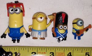 4 Mini Minions Moive (Despicable Me) Figures