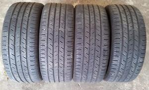 4 pneus été 205 55 16 10/32 continental  contipro contact