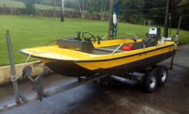 Dory Fishing Boat, Trailer & 15hp Honda Four Stroke