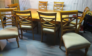 Wooden dining set for 6-8 persons