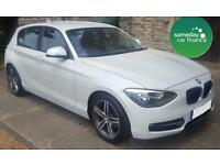 ONLY £217.89 PER MONTH WHITE 2012 BMW 118D 2.0 SPORT 5 DOOR DIESEL MANUAL