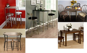 Bistro table/small dining set for two