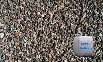 10mm Pea Gravel Bulk Bag (850kg minimum) - FREE DELIVERY - 10mm Pebbles