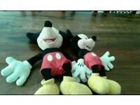 2 mickey mouse teddy bears