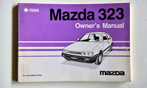 Owner's Manual for a 1986 Mazda 323