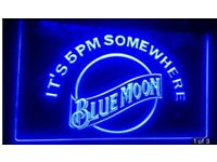 Blue Moon Beer Bar Pub Club 3D Signs LED Neon Light Sign Decor Grafts