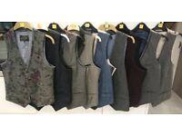 "9 Men's River Island waistcoats - good used condition - small/38"""