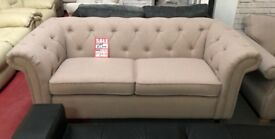 DFS Chesterfield Ashby 3 seater fabric sofa