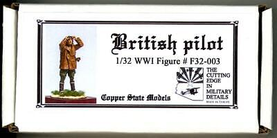 Used, Copper State Models 1/32 BRITISH WWI PILOT CHECKING THE GOGGLES Resin Kit for sale  USA