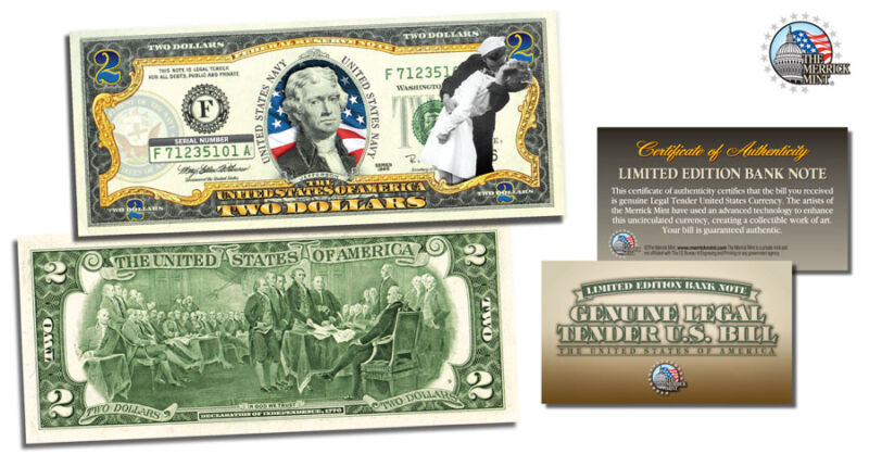 Presidential Two Dollar $2 US Bill Legal Tender Currency Benjamin Harrison QVC