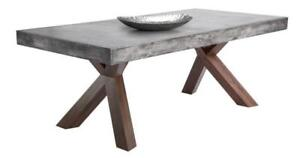 ON SALE Concrete Edge Dining Table Floor Model - Special Clearance Price
