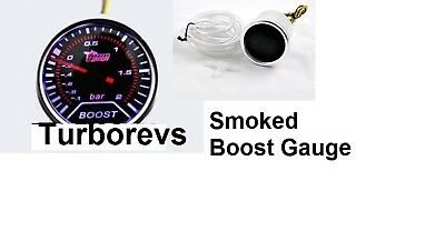 FORD ESCORT FIESTA RS TURBO SMOKED TURBO BOOST GAUGE 52MM