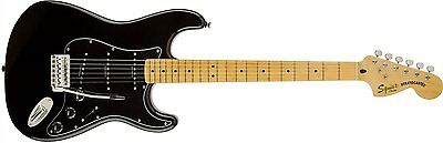 Fender Squier Vintage Modified Stratocaster '70s Electric Guitar Black Maple