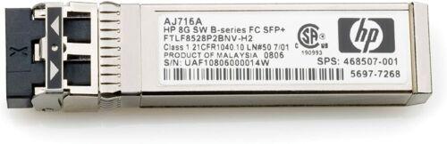 Genuine Hp Aj716a Storageworks 8gb Short Wave Fibre Channel Sfp 468508-001