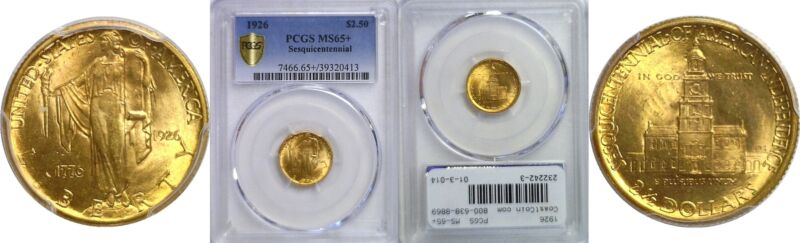 1926 Sesquicentennial $2 1/2 Gold Commemorative PCGS MS-65+