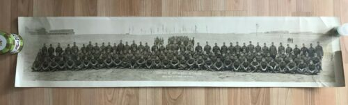 WWI US Army Company E 353rd Infantry 89th Division Panoramic Photo World War I
