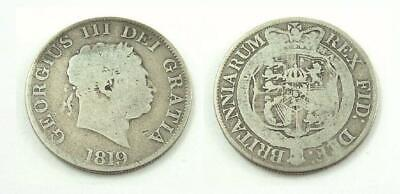 United Kingdom / Great Britain 1819 Half Crown Silver Coin - King George III
