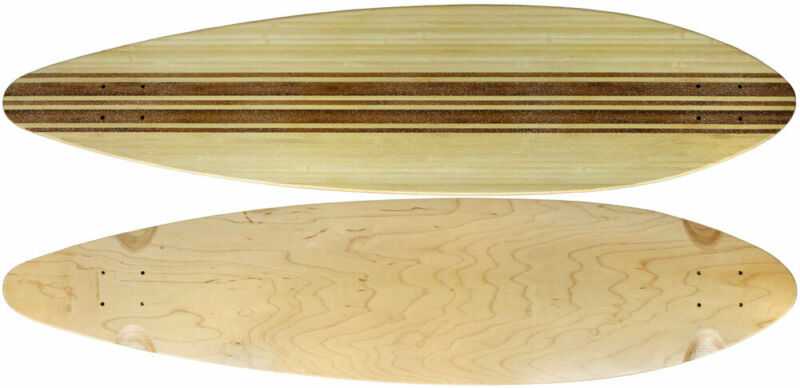 """Moose Longboard 9.5"""" x 41"""" Top-Ply Bamboo Deck With Grit"""