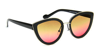 Women Vintage Sunglasses Black Cat Eye Fashion Retro Designer Style