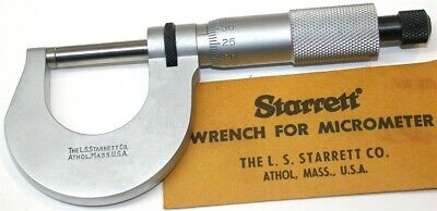 Starrett Metric Micrometer Mics 0 To 25mm Model 230m New