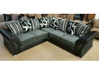 black grey chenille shannon corner sofa or 3+2 sofas call now with lots more on offer to choose
