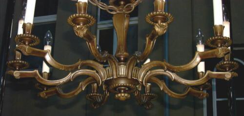 10 armiger massiver bronze kronleuchter ca 1880 for Ebay kleinanzeigen kronleuchter