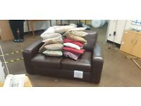2 &1 Sesters - Next Brown Leather Sofa