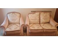 Wade two seater and 1 arm chair