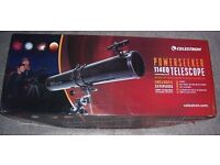 CELESTRON POWERSEEKER 114EQ TELESCOPE COMPLETE AND BOXED - AS NEW