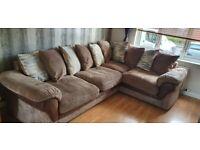 Harvey's Cushion-back corner sofa