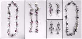 Chrome Hearts Pendant / Bracelet / Earrings - Red - Black Stones Pre-owned