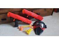 X2 Nerf Rival guns with face masks and amo like new never been used