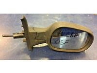 2004 NISSAN MICRA K12 DRIVER RIGHT OFF SIDE COMPLETE MANUAL MIRROR