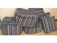 Pouffe X 3 and x 4 matching Pillows for sale