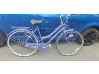 Vintage women raleigh Ladies blue bike