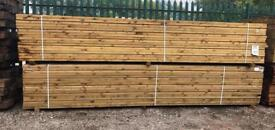 🌻 4 X 2 X 4.8M Wooden Easy Edge Lengths/ Rails - New