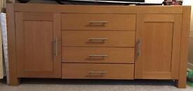 Large solid wood sideboard, 180x85x50cm(LxHxD)