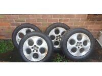 4 alloys wheels