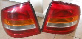 Vauxhall Astra Mk2 2012 rear lights