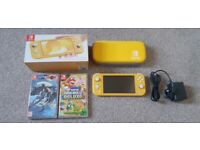 Nintendo Switch Lite Console with case + 2 Games
