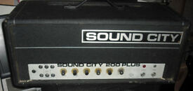 Sound City 200+ 70s vintage valve bass amplifier guitar amp kt88 SC200+ tube
