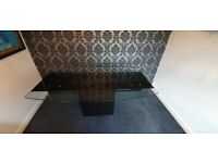 Large glass extendable dining table