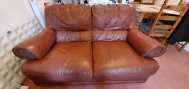 FREE Leather Two Seater Sofa (2x) For Collection