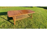 Ercol Blonde Coffee Table 459 with Magazine Rack underneath