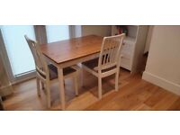 LERHAMN table with 2 EKEDALEN chairs in good condition