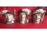 ROYAL DOULTON TOBY JUGS - EXCELLENT CONDITION - ALL TEN FOR £60 !!!!!