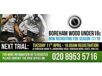 BOREHAM WOOD FOOTBALL UNDER 16s (Current under 15s)
